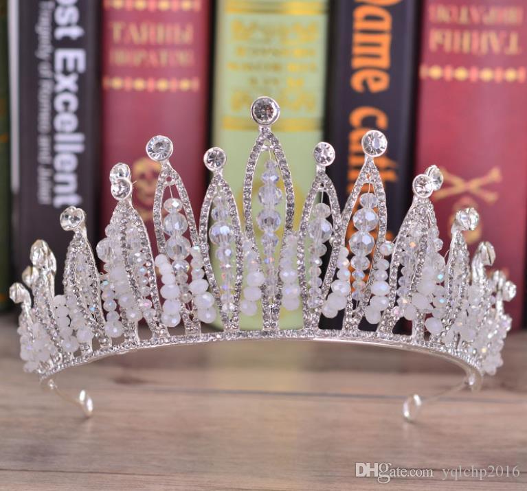 Новый свадебный головной убор барокко изысканный свадебный корона свадебное платье аксессуары