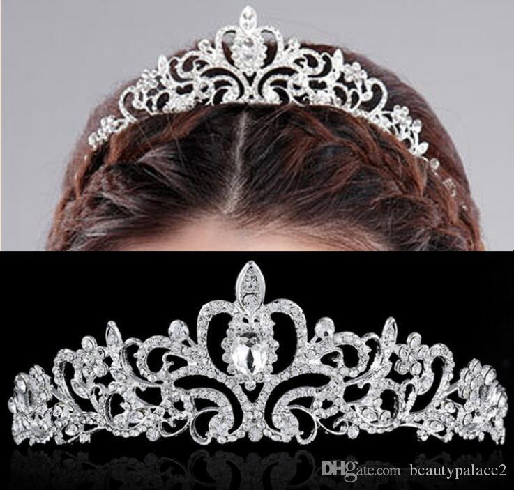 2019 Luxe Élégant Cristal Couronne De Mariée Coiffures Femme Diadèmes Bijoux de Cheveux Ornements Hairwear Mariée De Mariage Accessoires De Cheveux