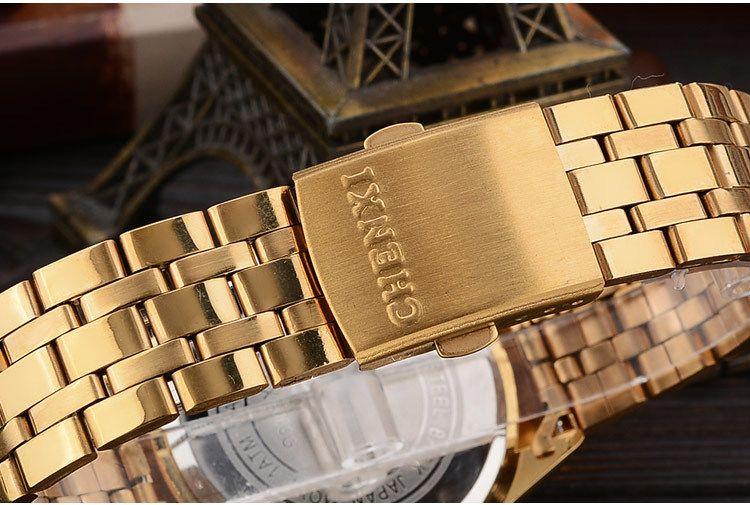 Acheter Chenxi Hommes Montre En Or Homme Quartz En Acier Inoxydable Dor Pour Hommes Montres Homme Top Quartz Montres Horloge Cadeau De 10,04 € Du