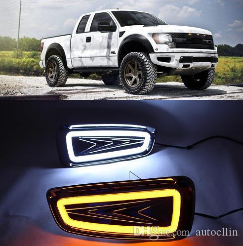 2pcs para a Ford Raptor F150 2009 2010 2011 luz condução 2012 2013 2014 DRL luz de circulação diurna Nevoeiro Tampa da lâmpada