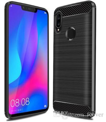 Per Huawei P20 Lite / P20 P30 P40 P40 P40 Pro P30 Lite Case Armor Slim Protection Fiber Soft TPU Phone Silicon Gomma Huawei Nova 3 3i copertina