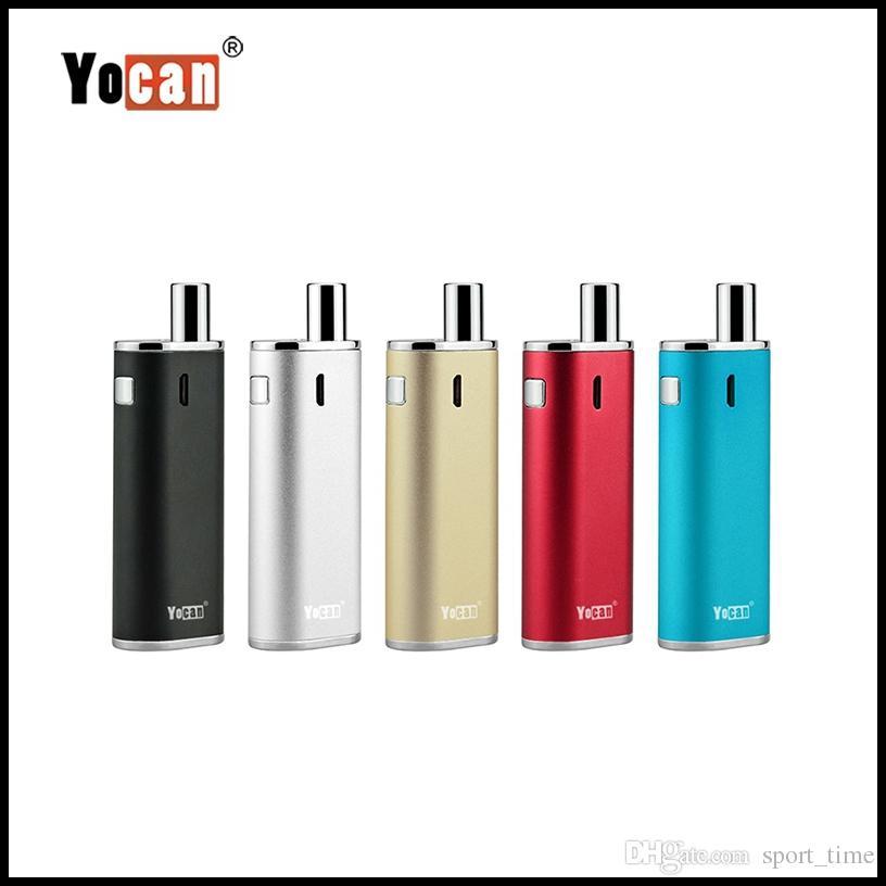 100% auténtico Yocan Hive Box Mod Vape Pen Cera Atomizador de aceite 2 en 1 Kits de vaporizador Batería de 650mAh para jugo y aceite concentrado