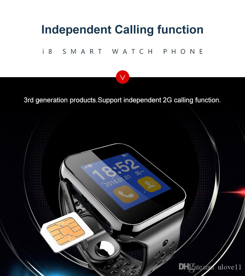 New cheap smart watch SIM card i8 updated U8 pedometer sleep monitor message remind romote camera calls sync remind sport watches phone cal