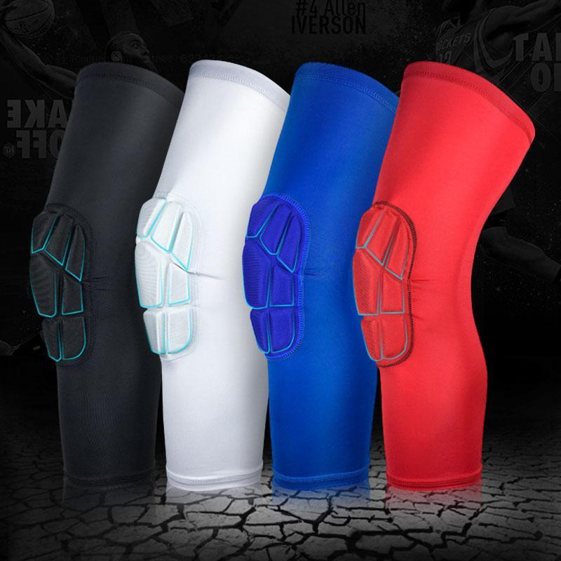 1 paio di sport di sicurezza basket basket ginocchiere di pallacanestro di calcio di paia sport accessori protezione del protettore del ginocchio elastico spedizione gratuita