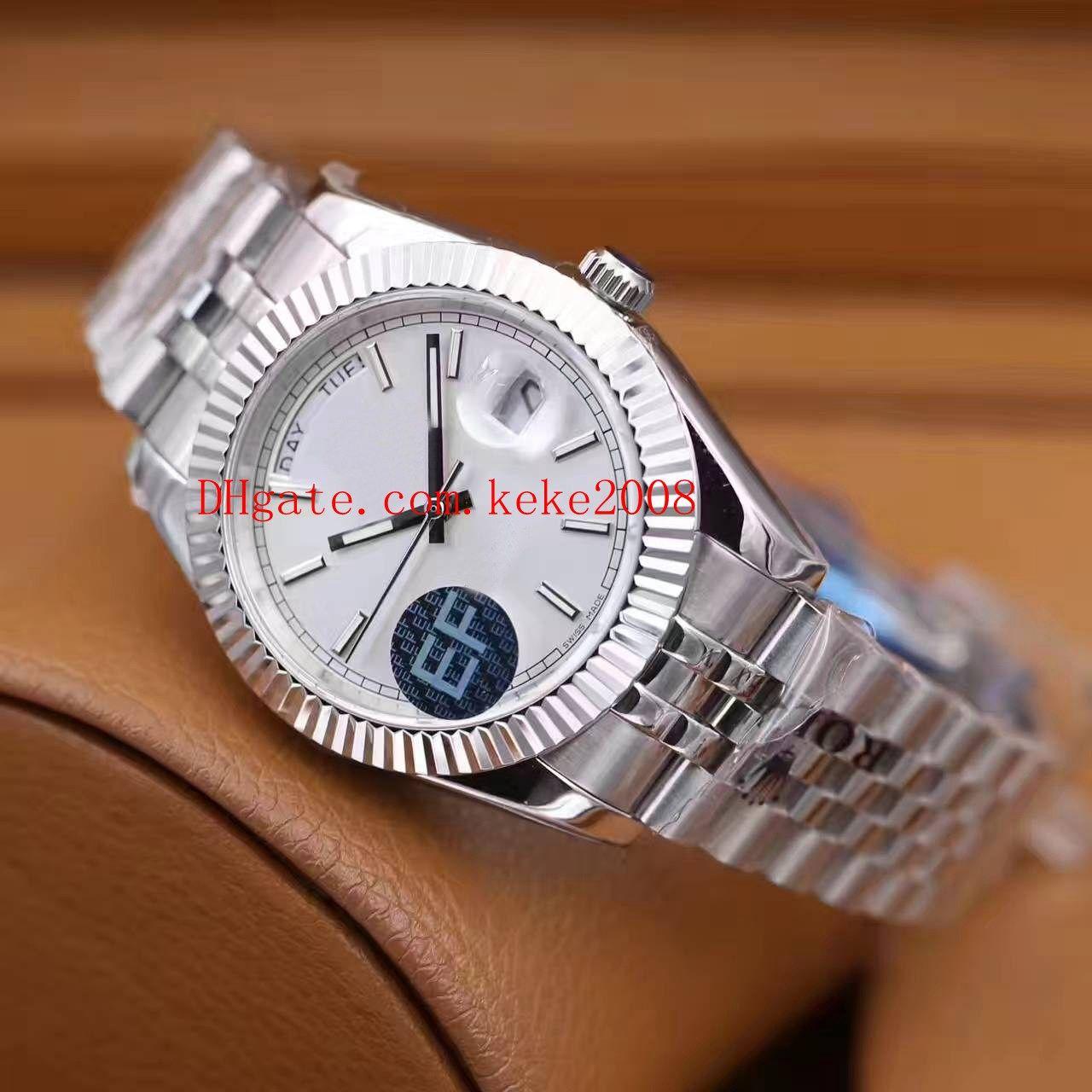 10 farbe luxus beste armbanduhr ef fabrik präsident präsident tagszeit 41mm 316l diamant swiss cal.3255 bewegung automatische herrenuhren