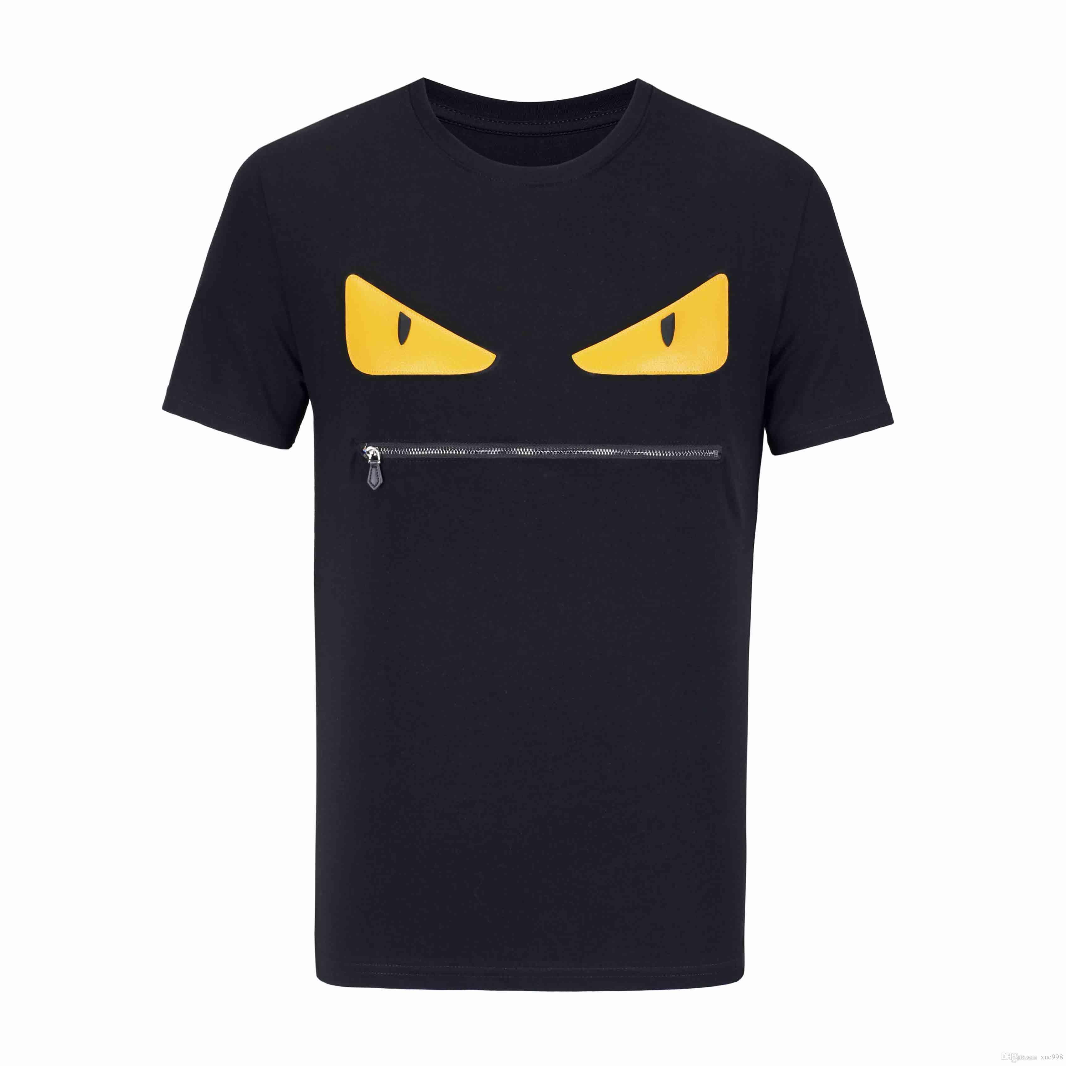Yaz erkek T-Shirt Kısa Kollu Lüks Moda T-Shirt Üst erkek Göz Baskı erkek Pamuk T-Shirt Ücretsiz Kargo