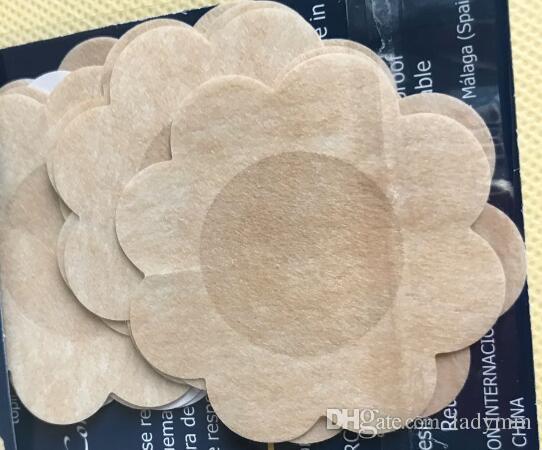 レディースセクシーな使い捨てキューブレッソンニップルカバーパッチ乳房ニップルパッドの花びら10,000個(5ペア/パック)送料無料