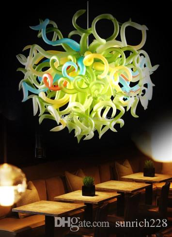 Multi Color Crystal Chandelier Light Mouth Blown Glass Borosilicate Glass Hanging LED Crystal Chain Chandelier Turkish Lamps