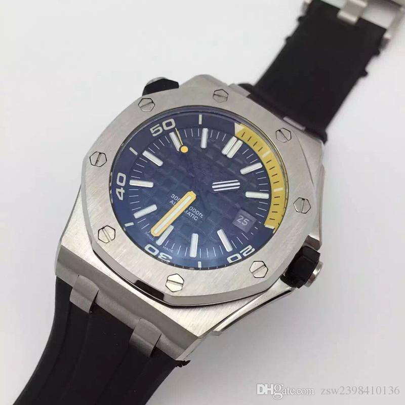Relógio de pulso Diver ST.OO.A027CA.01 Azul Pulseira De Borracha Relógio Automático Homens Relógios de Alta Qualidade Nova Chegada