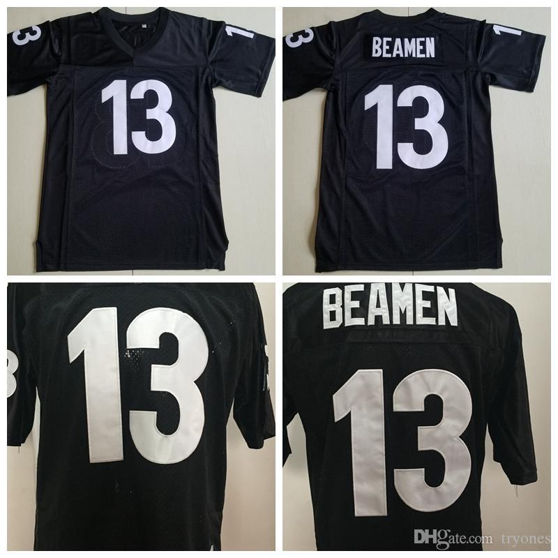Mens Película domingo cualquiera 13 Willie Beamen fútbol jerseys baratos Willie 13 Beamen negro cosido Footballl camisas