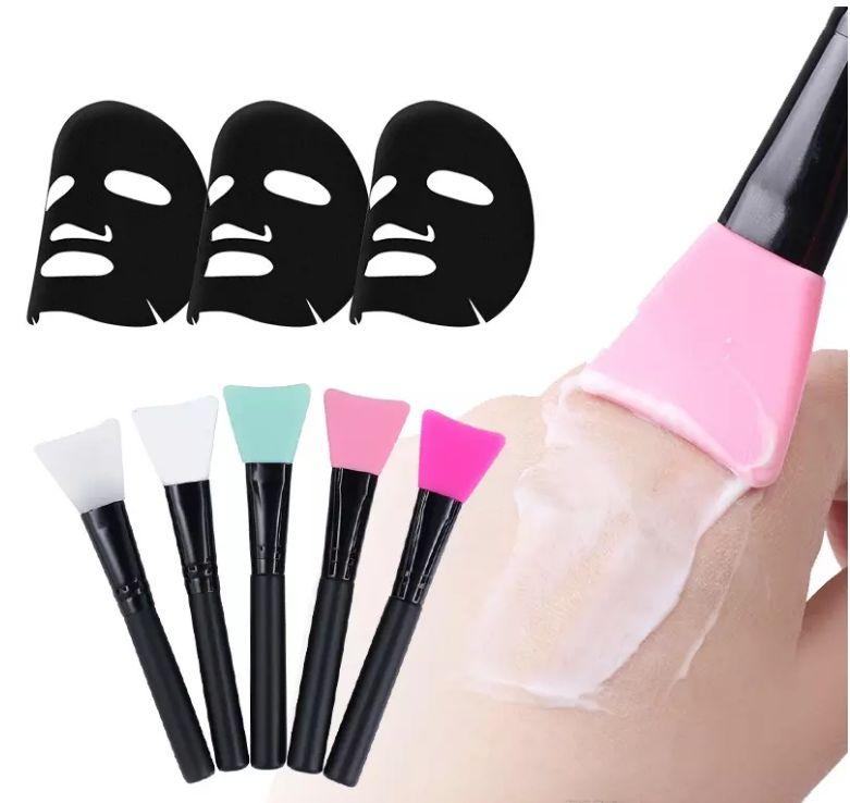 Neue Silikon Make-up Pinsel für Schlammmaske Pinsel Make-up Pinsel Professionelle Make-up Pinsel Kosmetik Werkzeuge für Foundation Gesichtspuder Schlamm