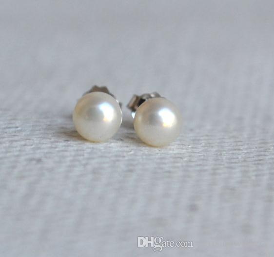 100% vrai perle bijoux, minuscule 4,5-5 MM naturel perle d'eau douce 925 boucles d'oreilles en argent Sterling, mariage demoiselle d'honneur femme cadeau