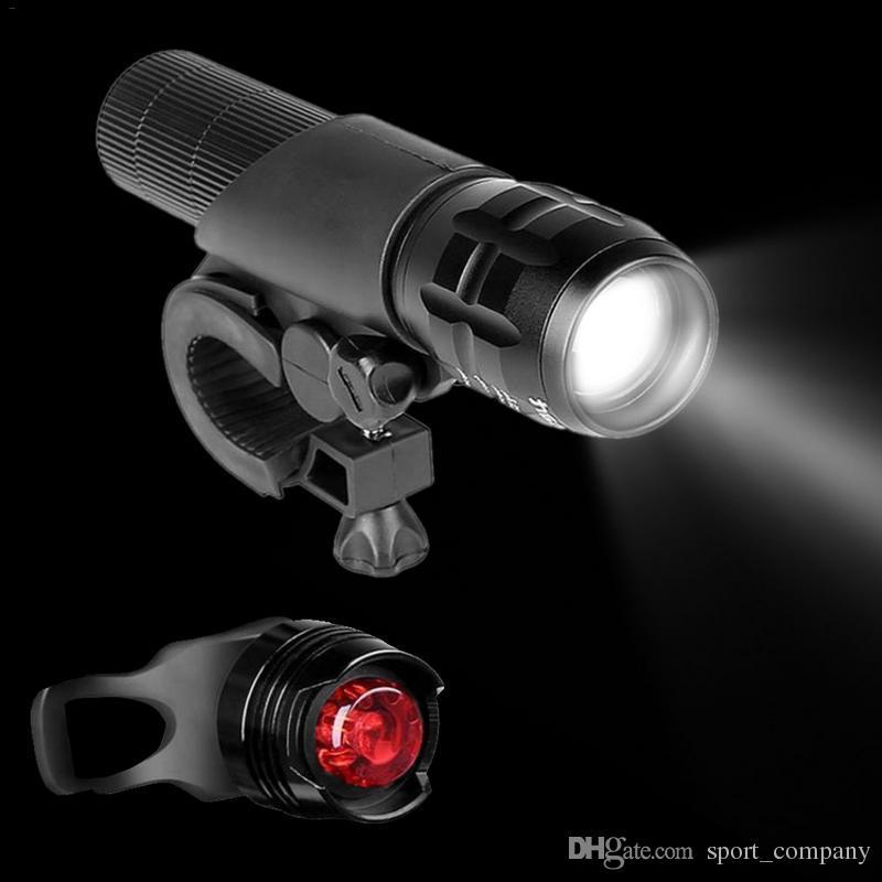 XM-L T6 LED Bicycle Light Set Front Rear Tail Light Waterproof Mountain Bike Head Light Flashlight Torch Safety Warning Lamp Bike Taillight