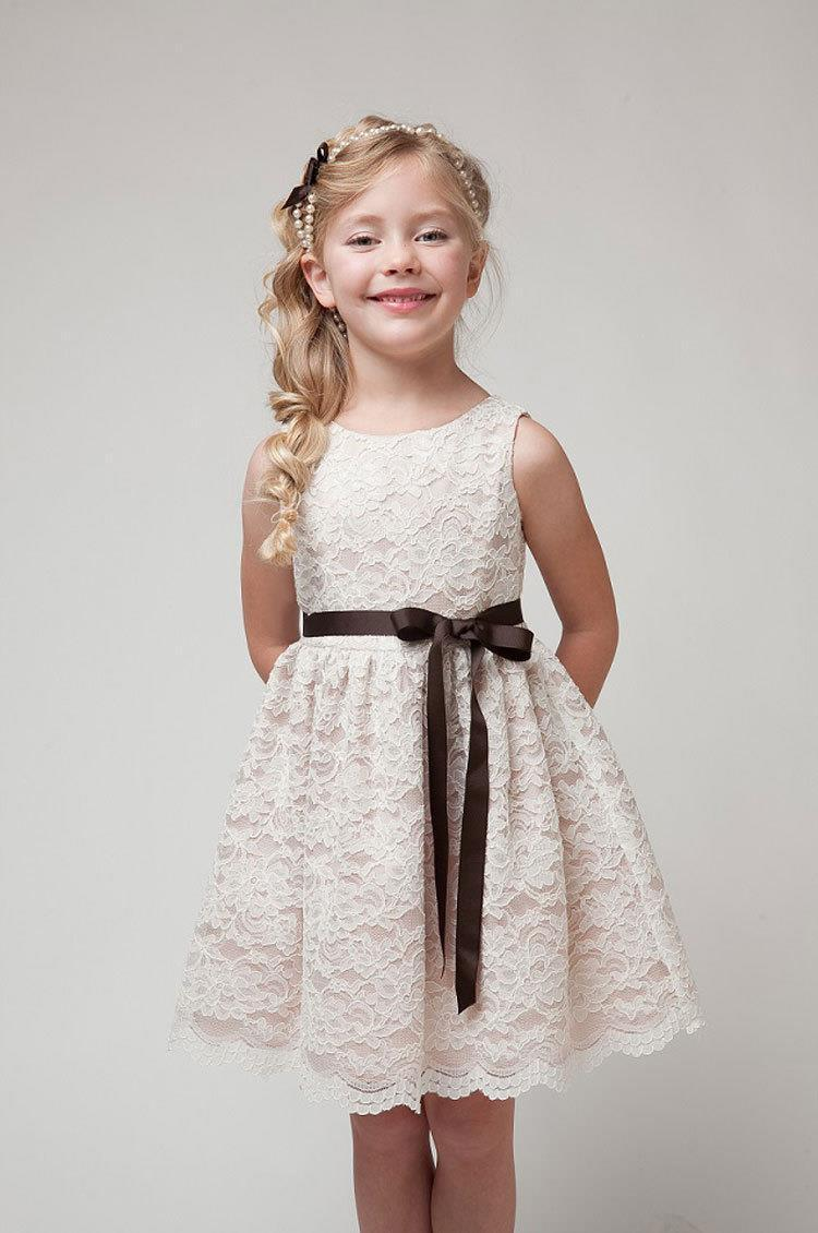 Girls Dress Children Clothes 2018 SUMMER NEW Girls Beautiful Lace Princess Dress Quality White Baby Teenager Kids Dress for Age 3-11