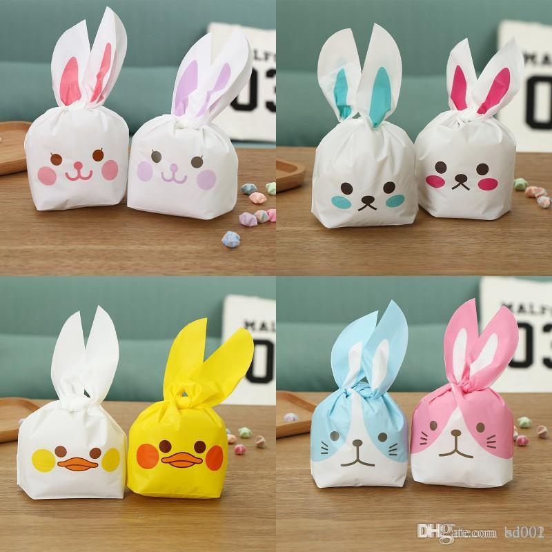 Cute Paper Biscuits Bags Multi Pattern Rabbit Ear Candy Package Bag Wedding Party Supplies For Gift 6 49qf ff