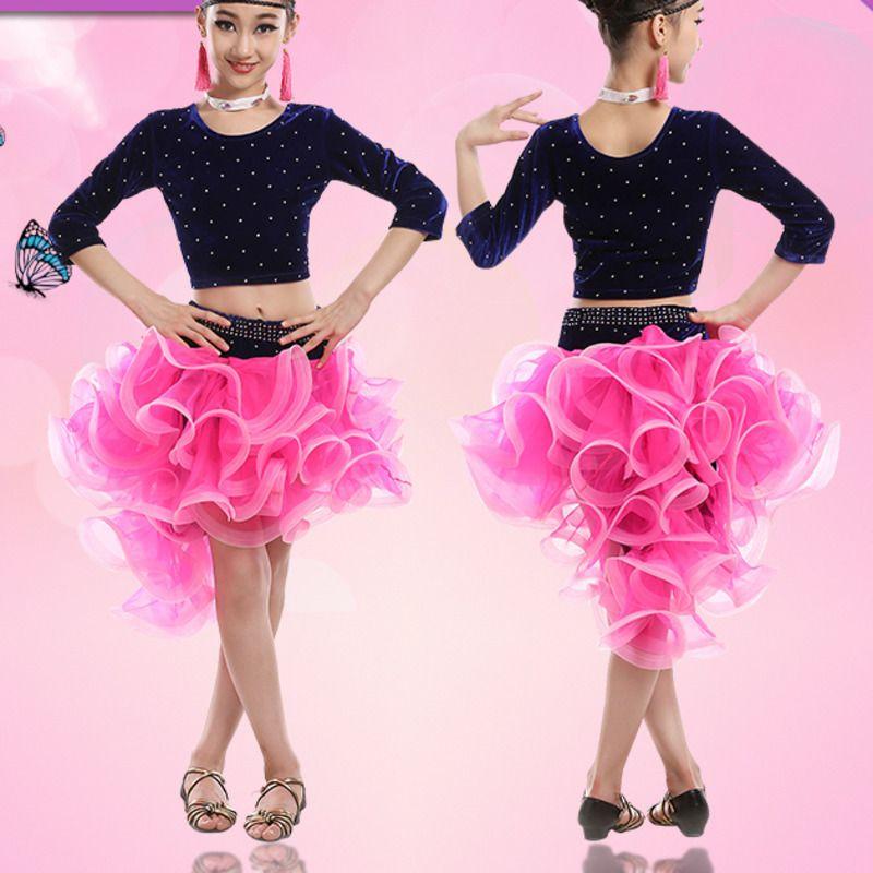 kids Ballet dancewear COSTUME dress Childrens Latin Salsa Ballroom Dance Dress