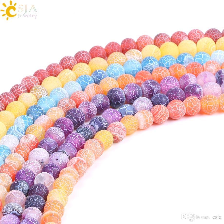 50 perles givré 8mm ROSE