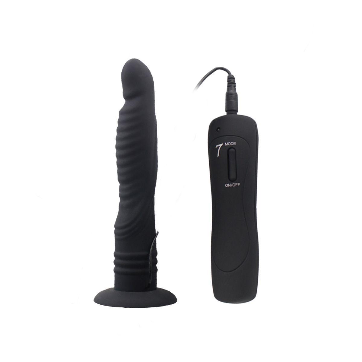7 mode G-spot dildo vibrator vibe with sucker masturbation cunt insertion vagina massage adult sex toys for women pink black AFL-hc84017