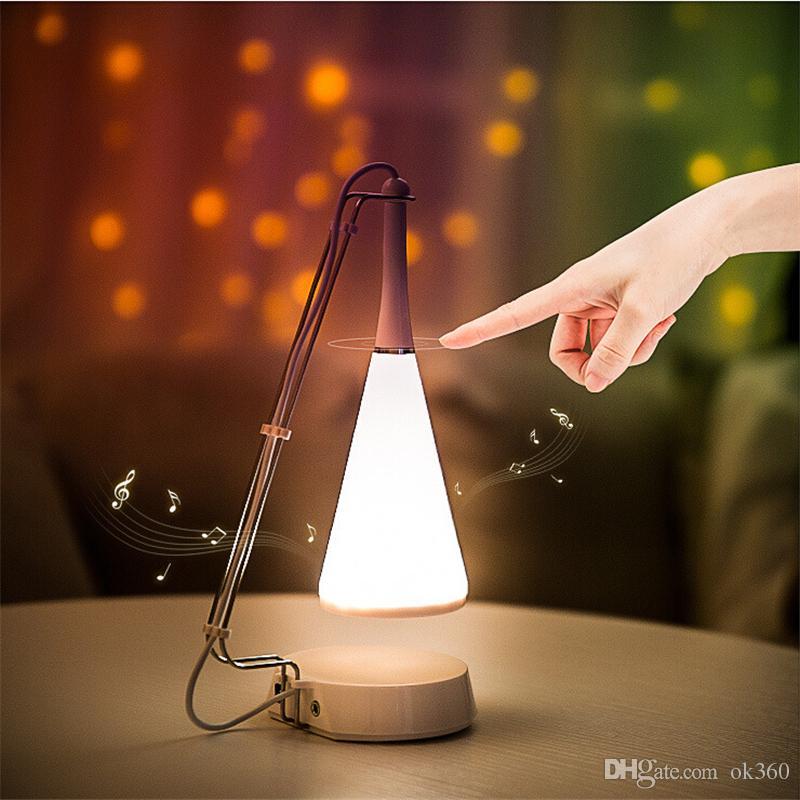 Bluetooth Music светодиодную касания Контролируемая Настольная лампа Speaker Light USB зарядка Скорректированный Аудио Настольная лампа ночного освещения