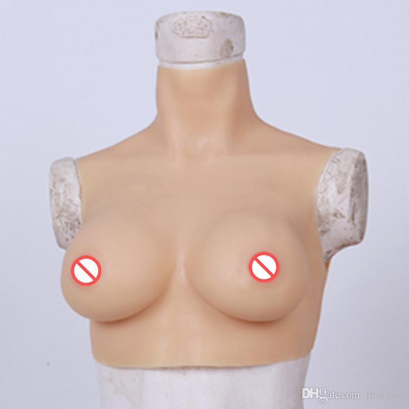 C Coppa tette enormi falsi realistica del seno del silicone artificiale Formare ingrandimento naturale del seno per il Veste Transessuali Sissy Boy Travestiti