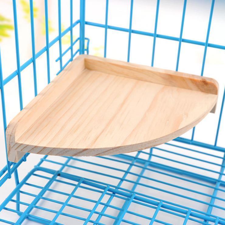 Wooden Pet Hamsters Cage Accessories Chinchillas Totoro Squirrels Springboard Platform Small Animal Supplies