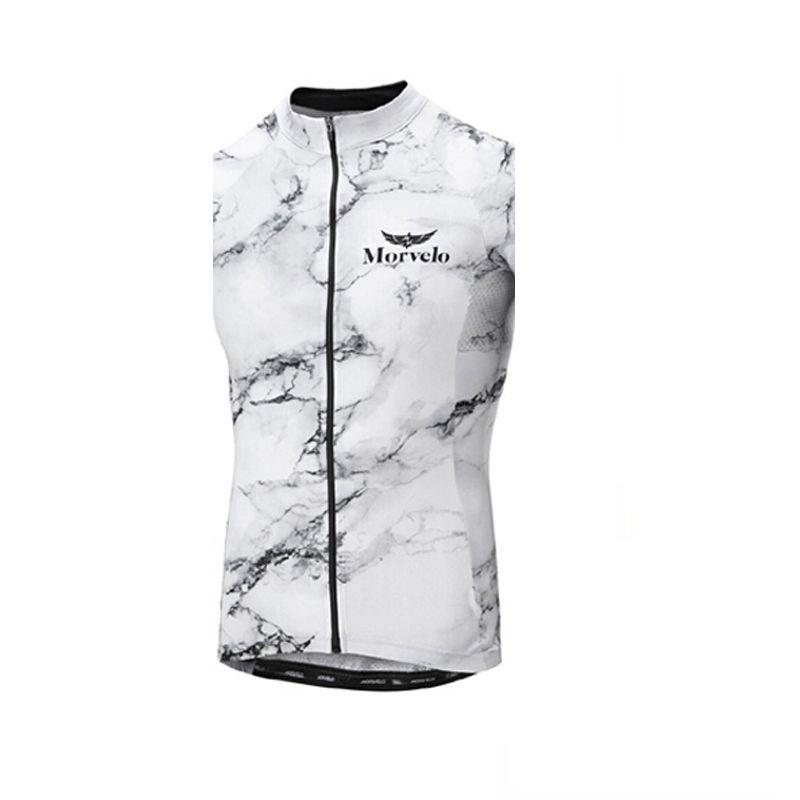 Morvelo ekibi Bisiklet Kolsuz forması Yelek Yaz Nefes Hızlı Kuru Mtb Bisiklet Giyim yarış gömlek Spor giyim U62714