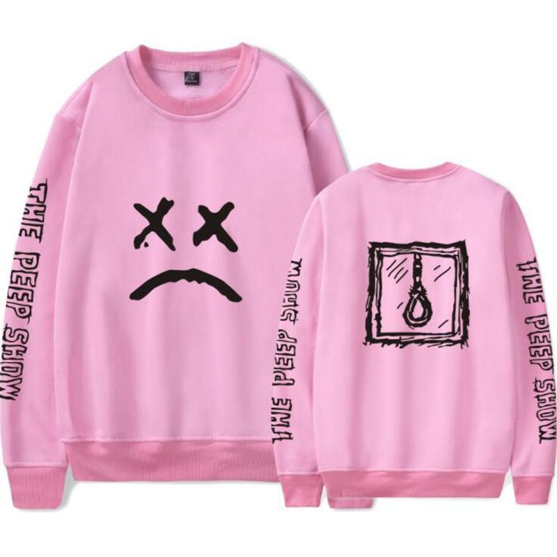 Lil Peep Pink Hoodie Hombres Streetwear Hip Hop Cool Man Rap Stars Pullovers Sudaderas con capucha gráfico Parejas Sweatshirt Brand Clothing 4XL