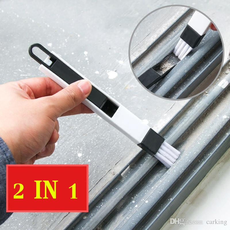 نافذة الأخدود تنظيف فرشاة تنظيف الشاشة أداة الأخدود فرشاة صغيرة مع فرشاة فراغ Dustpan