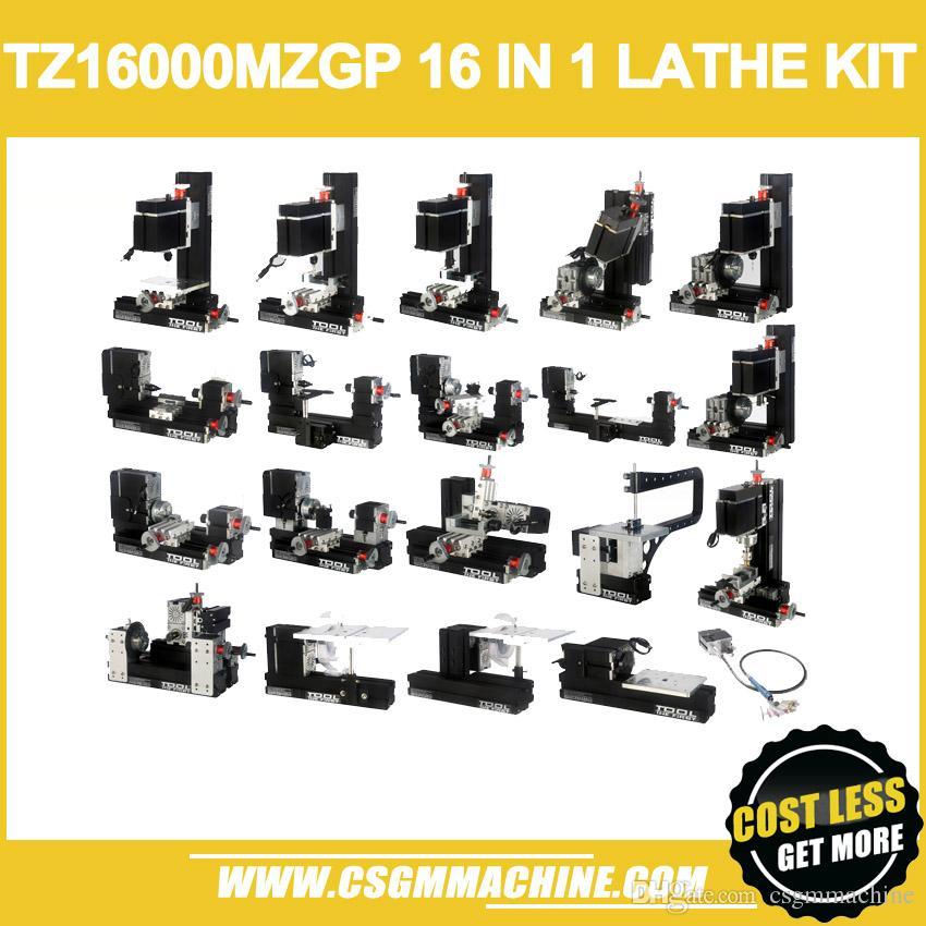 YENI VARıŞ! / TZ16000MZG 60 W Metal 16 in 1 Mini Torna ile Yay Kol / 60 W, 12000 rpm Mini Yay kolu 16in1 Metal torna Makinesi