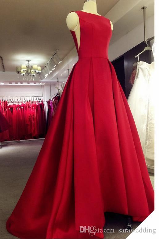 Бато шеи атласное вечернее платье новый спинки длинные вечерние платья длиной до пола Пром платья для партии