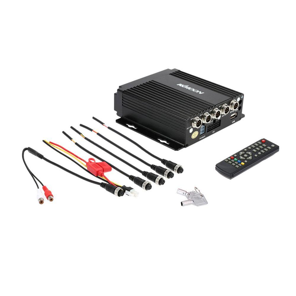Realtime MINI 4CH Car Mobile DVR Auto Video Recorder Vehicle Camcorder Driving Recorder Car Camera Remote Controller Encrption