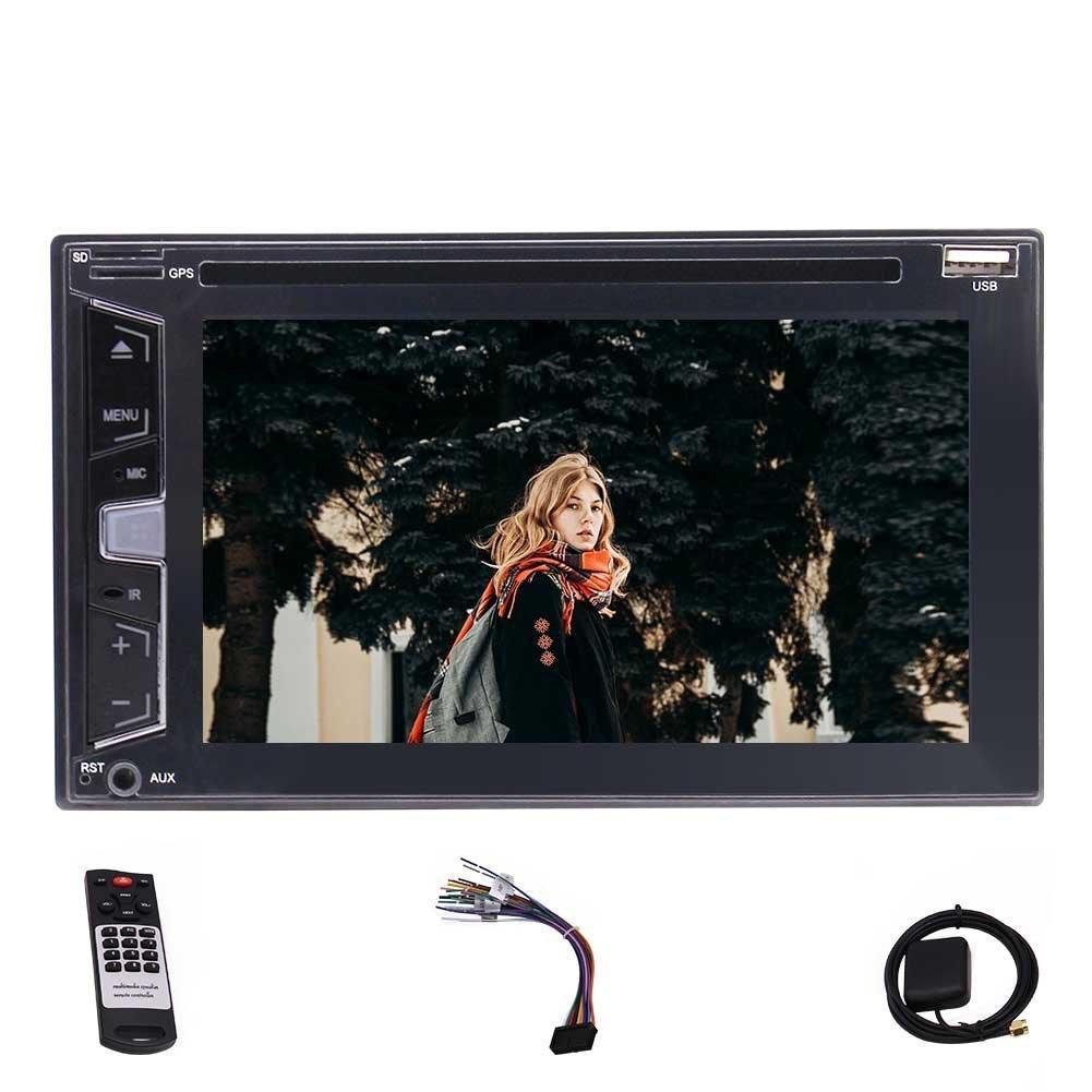 6.2 '' Doble 2Din Autoradio Estéreo Reproductor de DVD para coche Reproductor de CD DVD / CD / MP3 / MP4 / USB / FM RDS / Bluetooth / Pantalla táctil capacitiva Five Touch
