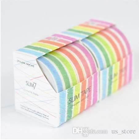 6Pcs/Sell Printing Washi Tape Set Japanese Stationery 0.7mm*7meter Kawaii Scrapbooking Tools Mask Adhesive Tape School Washitape 2016