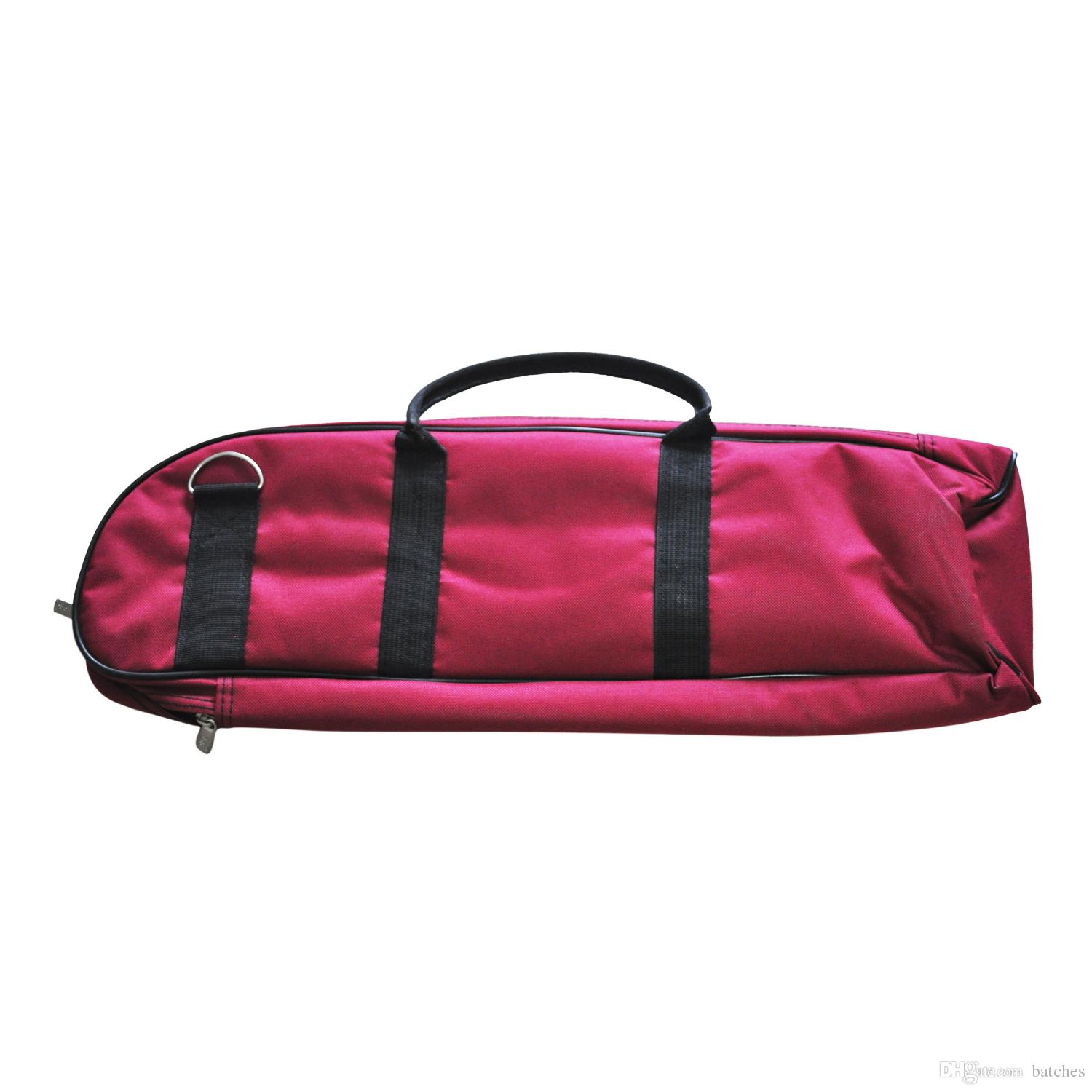 HLBY Good Deal Brand New Brass Wind Musical Trumpet Soft Case Canvas Gig Bag Red
