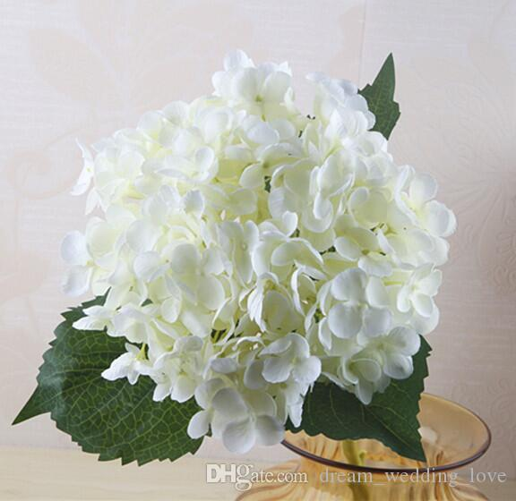 Hydrangea artificiale Flower Head 47 cm Falso Silk Single per Centrotavola di nozze Party Decorative Flowers Wedding SF020