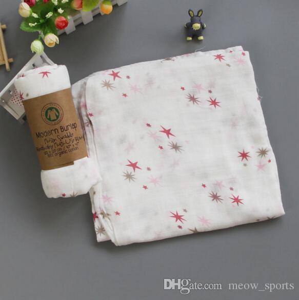 Various designs 100% muslin Cotton Baby Swaddles Soft Newborn Blankets Bath Gauze Infant Wrap sleepsack Stroller cover Play Mat