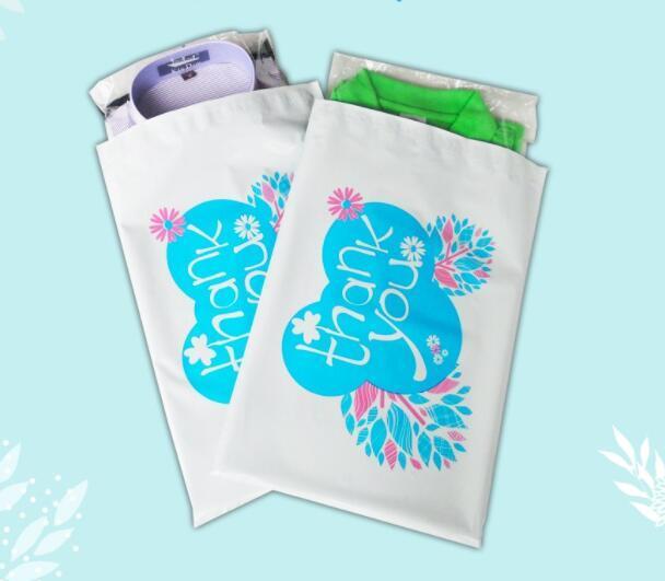 17x30cm спасибо напечатанный PE цвет пересылая мешки собственн-уплотнения пластиковые конверты Поли мешки Почтоотправителя пластик белый экспресс мешок