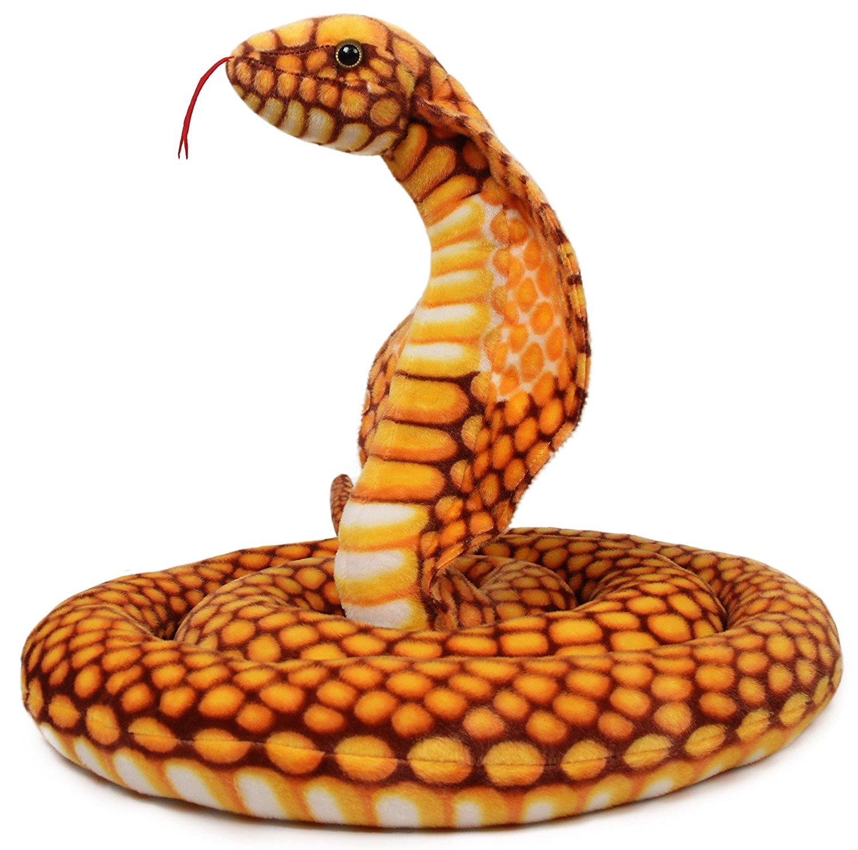 Qamra the Queen Cobra   9 Foot Long Big Snake Stuffed Animal Python Plush Tiger Tale Toys