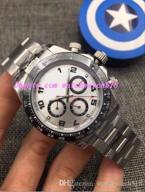 3 orologi di lusso in stile platino quadrante in ceramica quadrante arabo bracciale in acciaio automatico marchio di moda uomo orologio da polso da uomo
