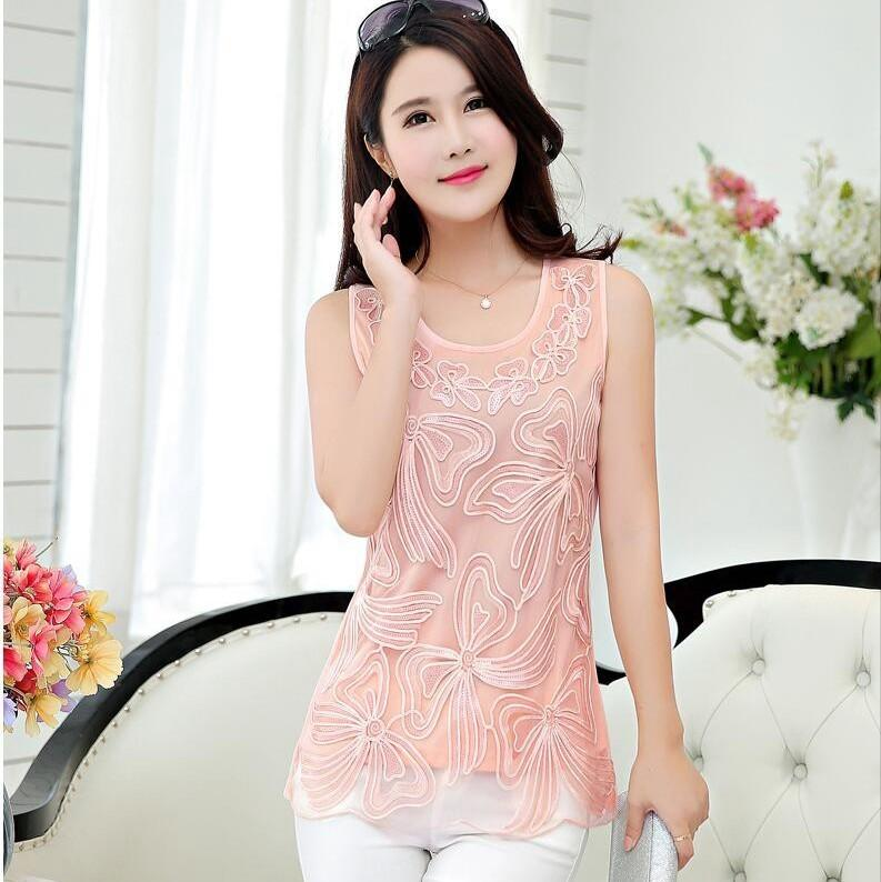 6e27e3ff39c 2019  1733 Summer Chiffon Sexy Vest Plus Size 5XL Mesh Sequin Top Feminino Tank  Top Women Pink Gold White Black Fashion Elegant From Bevarly