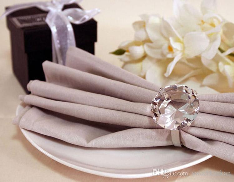 Mini 40mm crystal napkin ring K9 diamond wedding event dinner holder for table decor bridal shower party favor