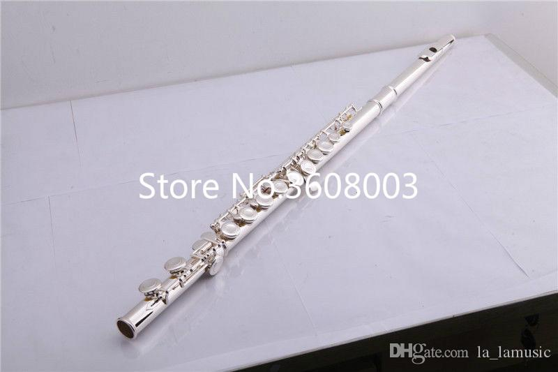 16 Holes Closed Silver Plated Flute With Split E Mechanism Offset-G Keys C Tone Metal Flute Professional Instrument With Case