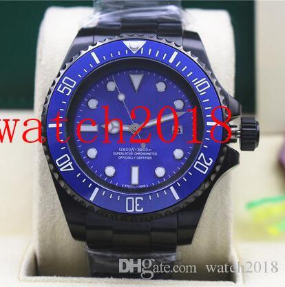 Luksusowy zegarek 116660 Stal nierdzewna Blue Dial Ceramic 44mm Automatyczne Mechaniczne Mężczyźni Zegarki Wodoodporne Luminous
