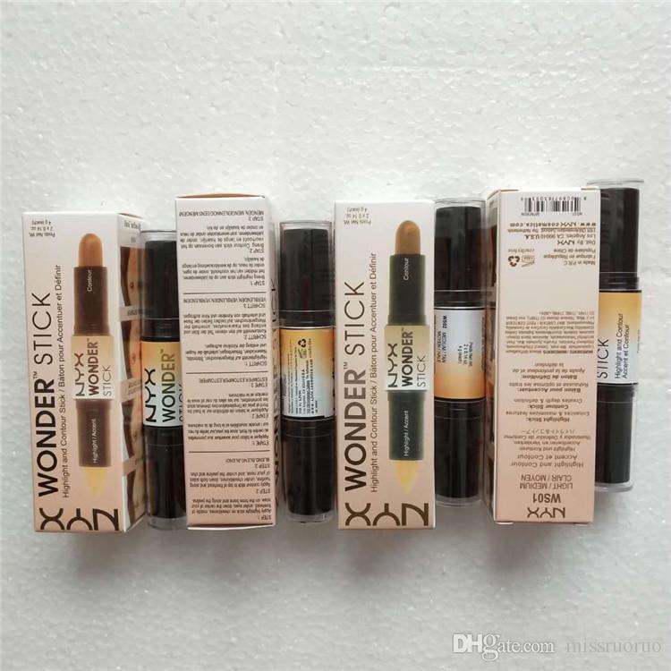 حار بيع NYX وندر عصا المخفي تمييز ماكياج الوجه كونتور عصا 4 ألوان شحن مجاني