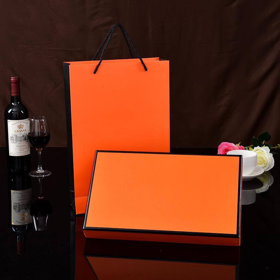 주문을 받아서 만들어진 실크 스카프 선물 상자 포장 상자 절묘한 선물 부대 주문을 받아서 만들어진 로고