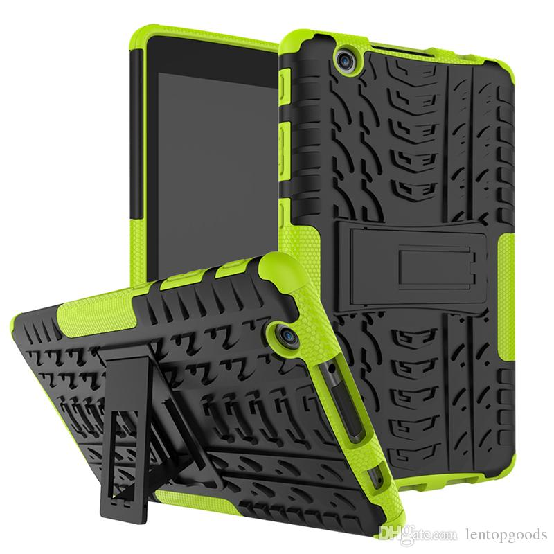 Shockproof Heavy Duty Armor Hybrid Case with Kickstand for LG G Pad iii 8 inch Tablet+Stylus