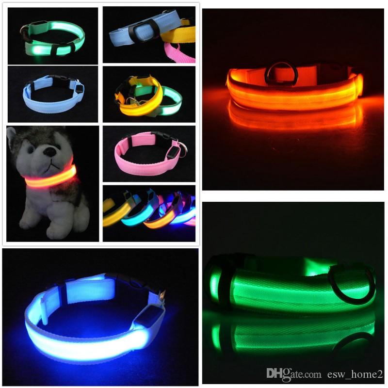 Night Safety Flashing Glow In The Dark dog Leash Pet Collar Luminous for Dogs Cats Dog Accessories Dog Supplies