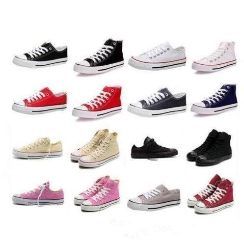 2019 نجمة جديدة كبيرة الحجم 35-45 أحذية عادية أحذية منخفضة أعلى النجوم الكلاسيكية قماش حذاء الرجل / المرأة قماش أحذية