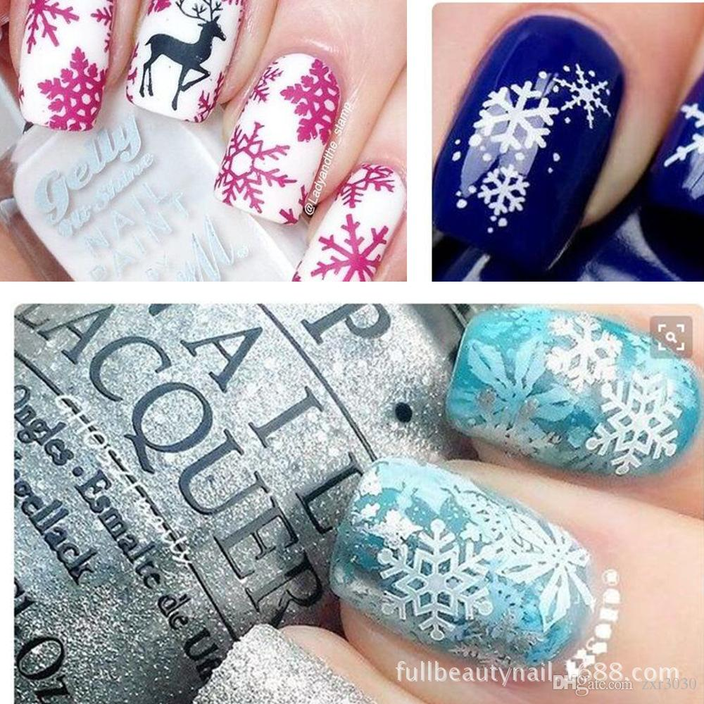 Snow Flower White Sticker For Nail Art Decor Christmas Tips Toes Water Transfer Nail Art Decals Nail Sticker Design Nails Fingernail Designs From Zxr3030 21 31 Dhgate Com