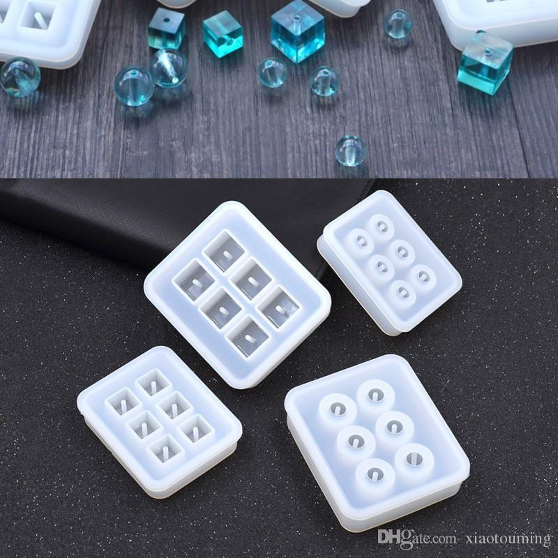 New Transparent Rectangle Silicone Bead Mould Square Ball 6 Holes DIY Epoxy For Jewelry Mold Cake Decoration Tools